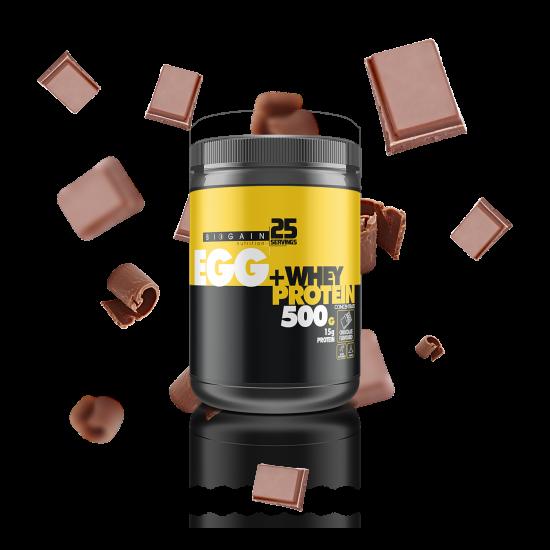 Egg + Whey Protein Tozu 500gr Çikolata