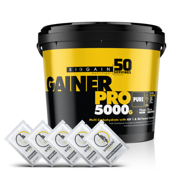 Mass Gainer 5000gr - 50 Servis - Aromalı